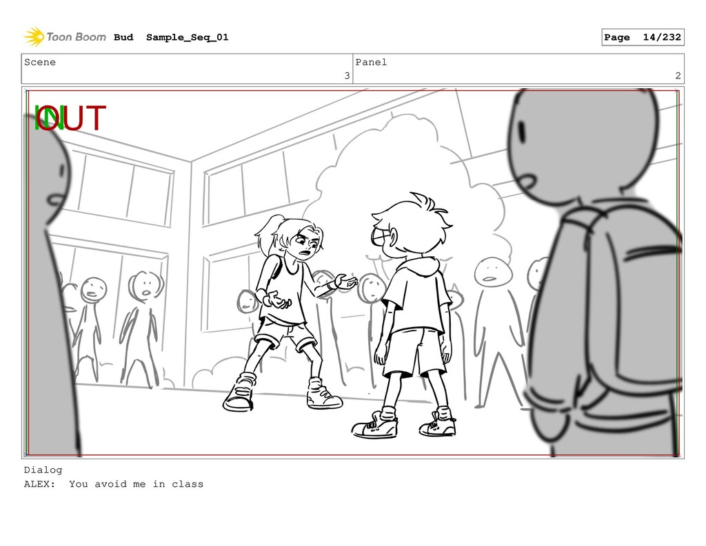 Scene 3 Panel 2 Dialog ALEX: You avoid me in cl...