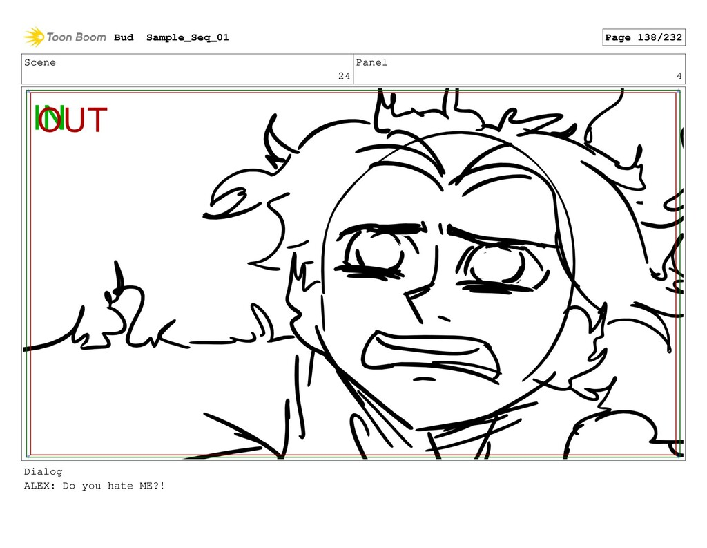 Scene 24 Panel 4 Dialog ALEX: Do you hate ME?! ...