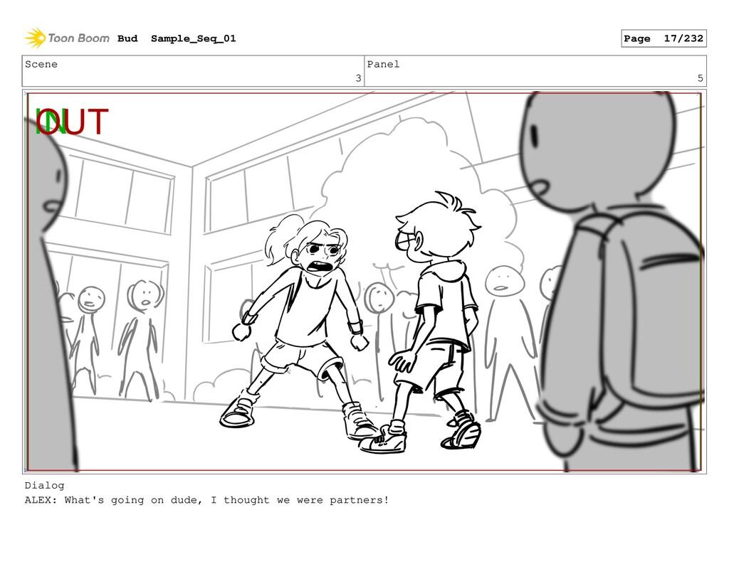 Scene 3 Panel 5 Dialog ALEX: What's going on du...