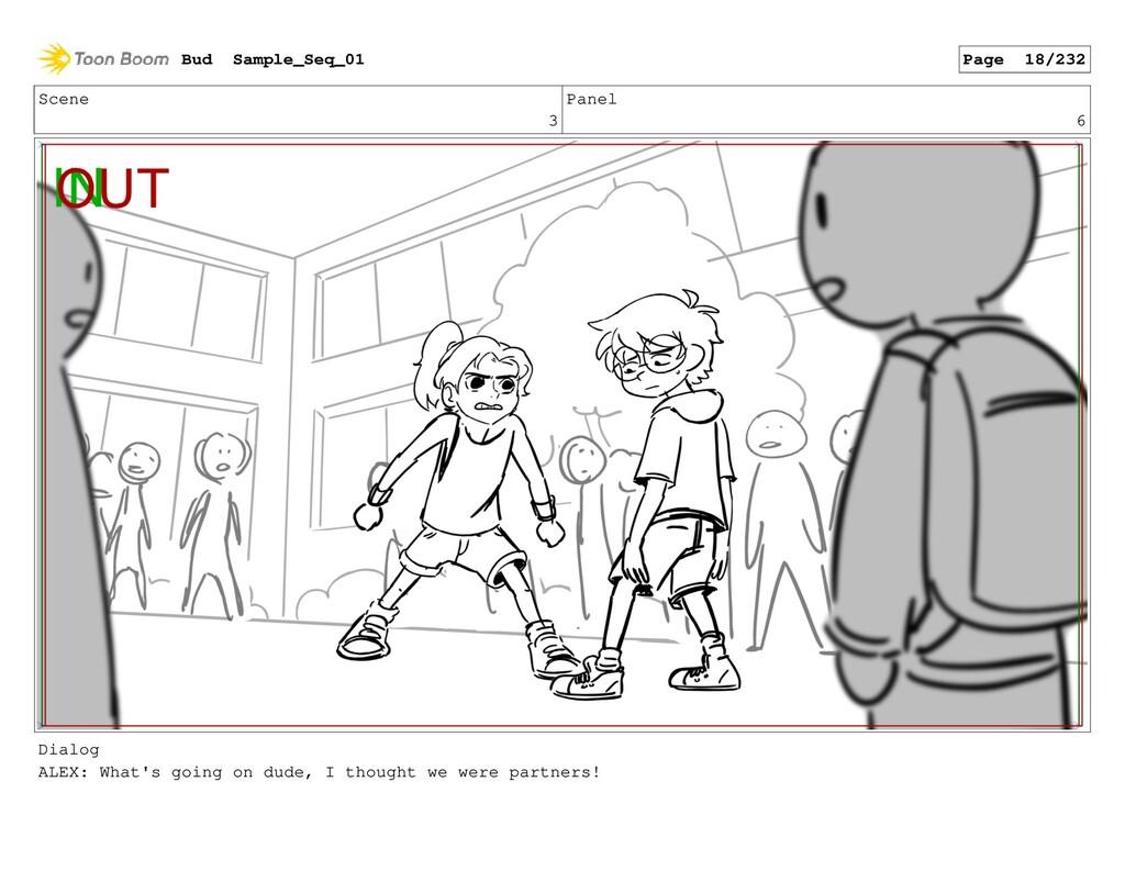 Scene 3 Panel 6 Dialog ALEX: What's going on du...