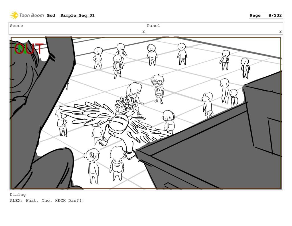Scene 2 Panel 2 Dialog ALEX: What. The. HECK Da...