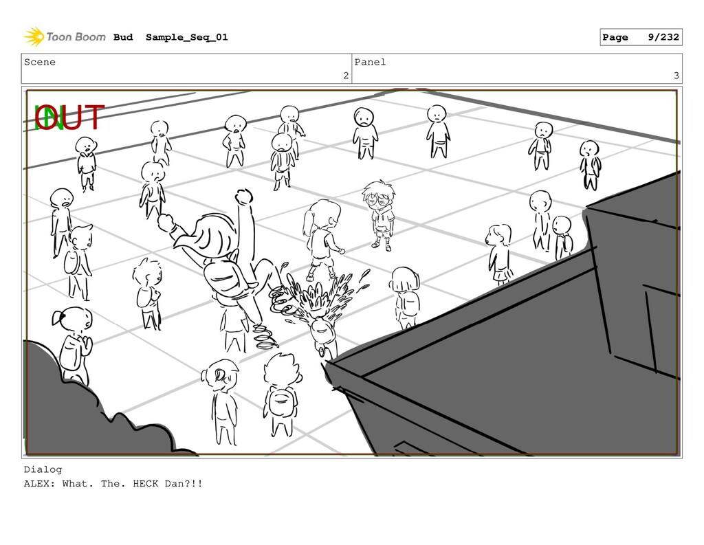 Scene 2 Panel 3 Dialog ALEX: What. The. HECK Da...