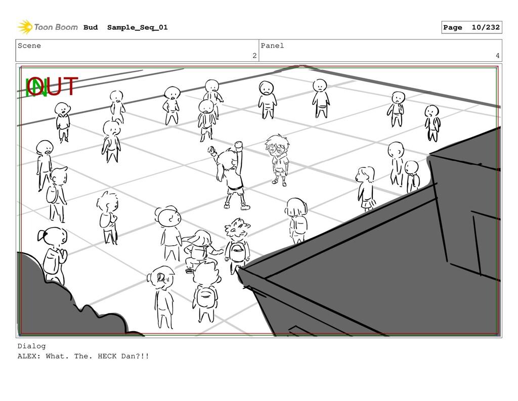 Scene 2 Panel 4 Dialog ALEX: What. The. HECK Da...
