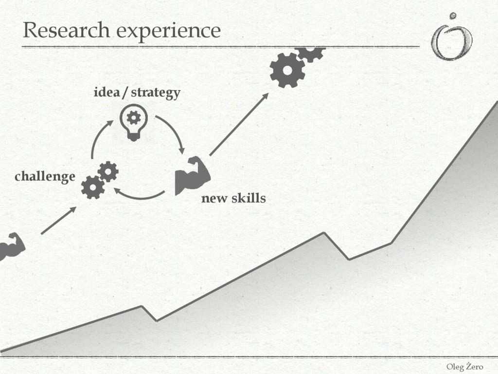 Research experience Oleg Żero challenge idea / ...