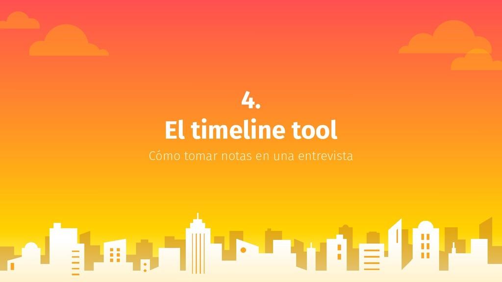 4. El timeline tool Cómo tomar notas en una ent...