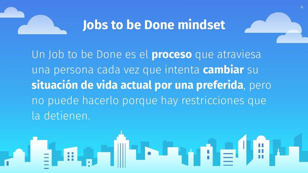 Jobs to be Done mindset Un Job to be Done es el...
