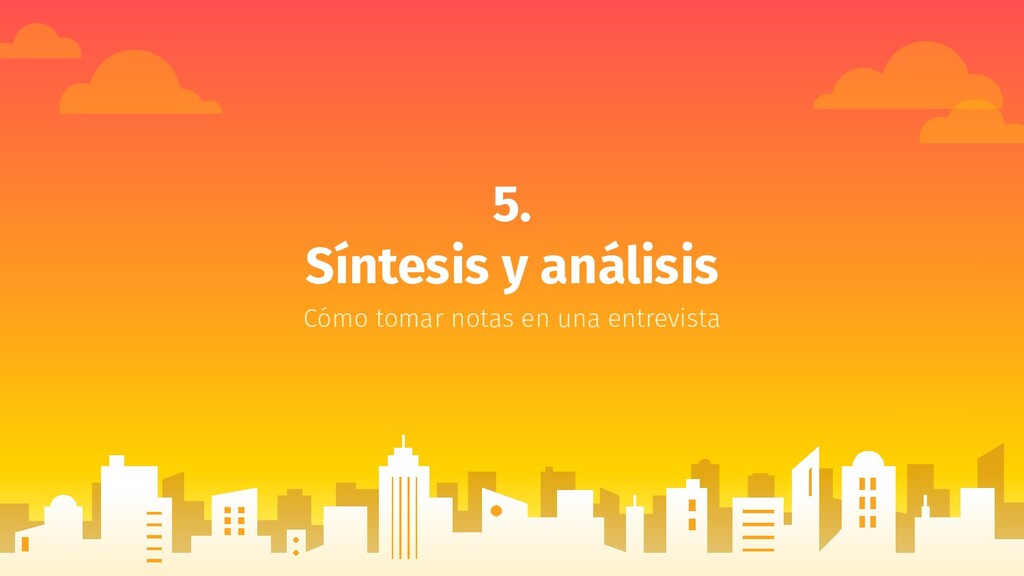 5. Síntesis y análisis Cómo tomar notas en una ...