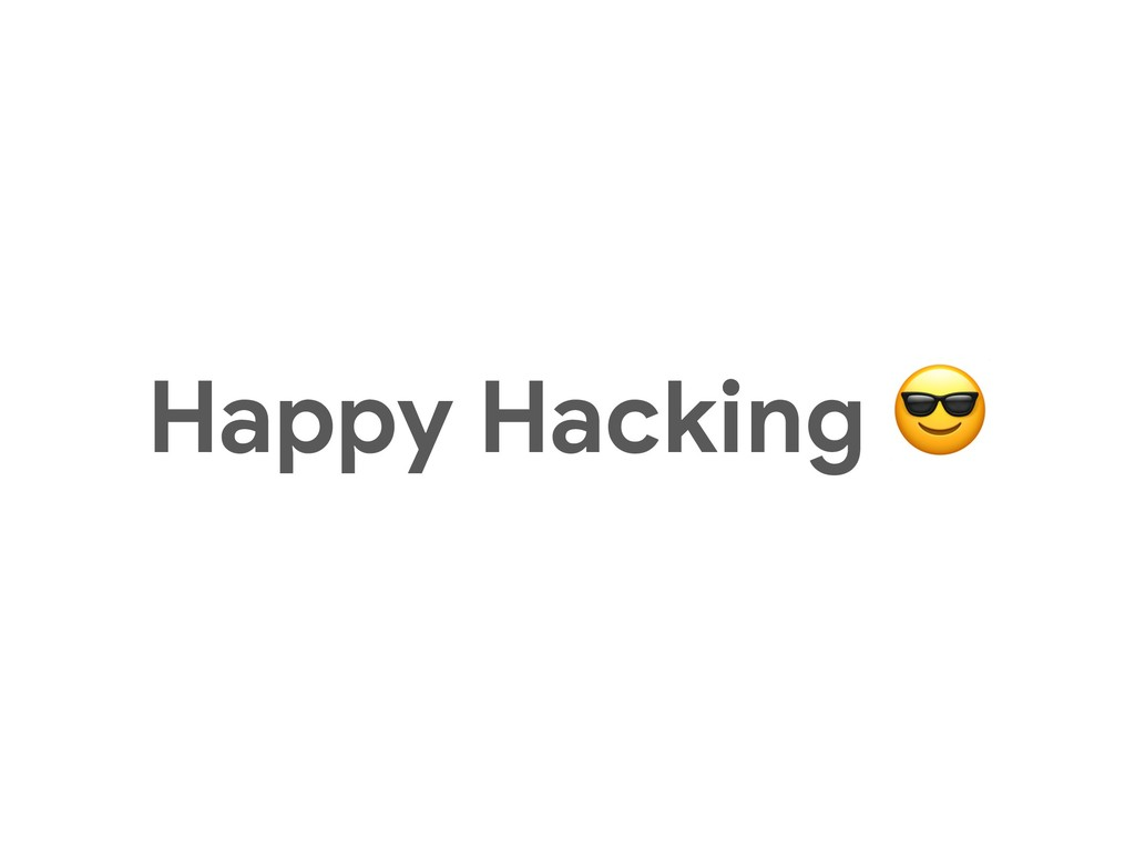Happy Hacking