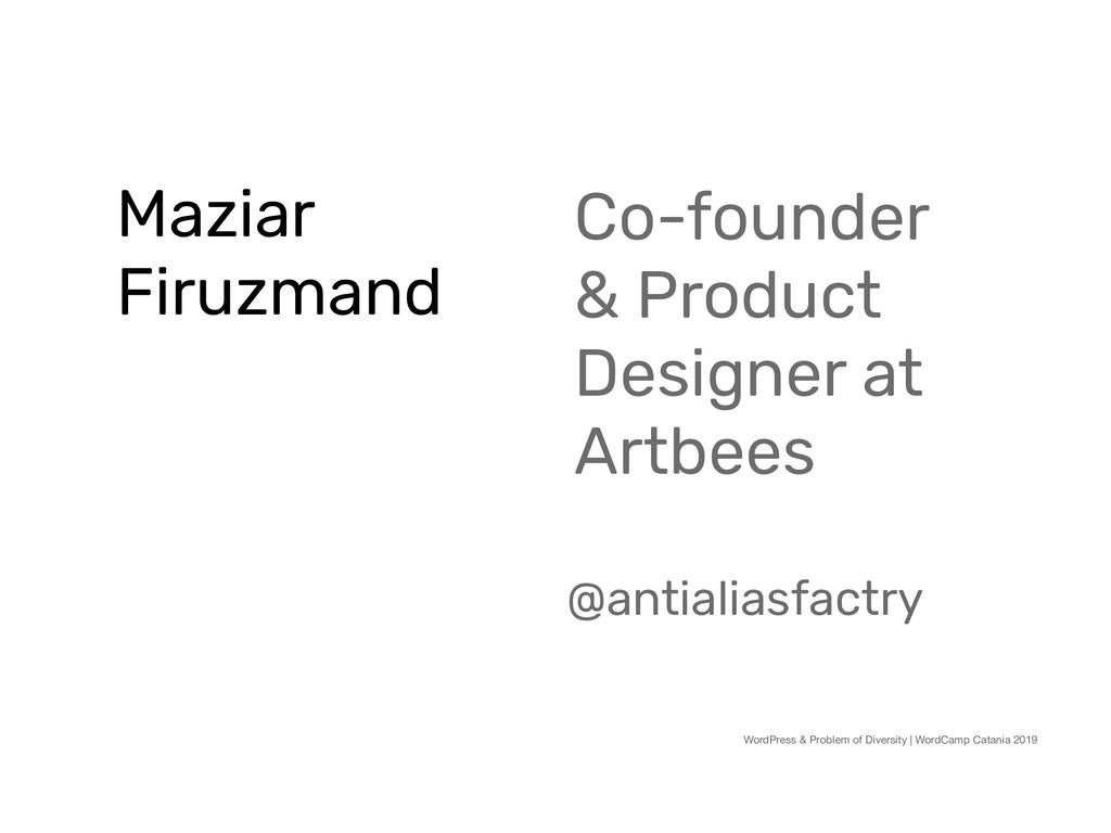 Maziar Firuzmand WordPress & Problem of Diversi...