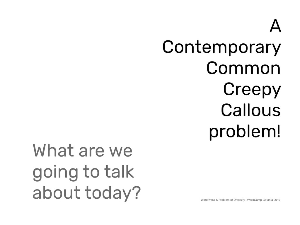 What are we going to talk about today? WordPres...