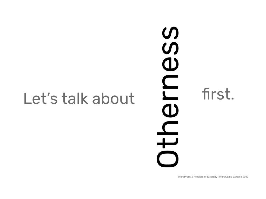 Otherness WordPress & Problem of Diversity | Wo...