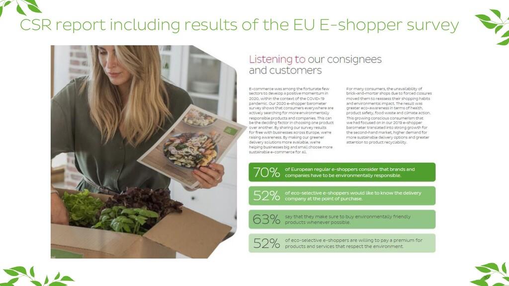 CSR report including results of the EU E-shoppe...