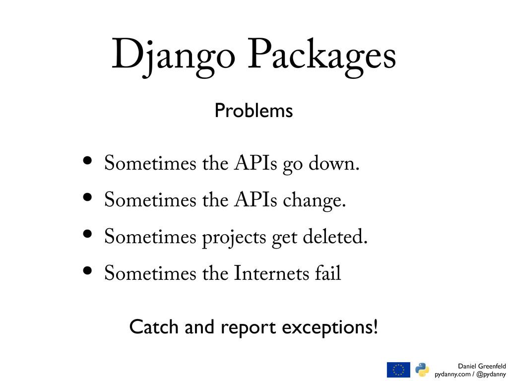 Daniel Greenfeld pydanny.com / @pydanny Django ...