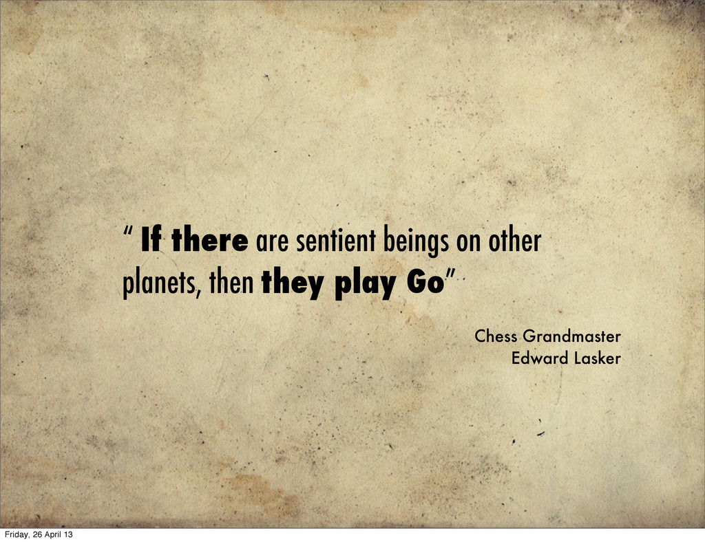 """"""" If there are sentient beings on other planets..."""