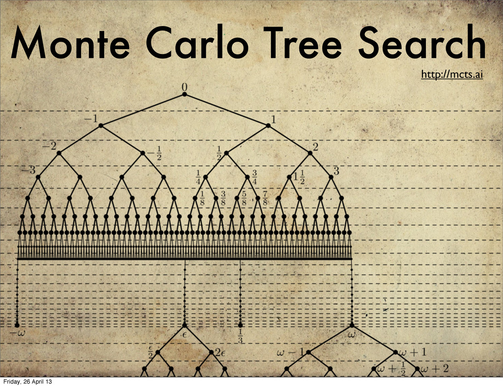 Monte Carlo Tree Search http://mcts.ai Friday, ...