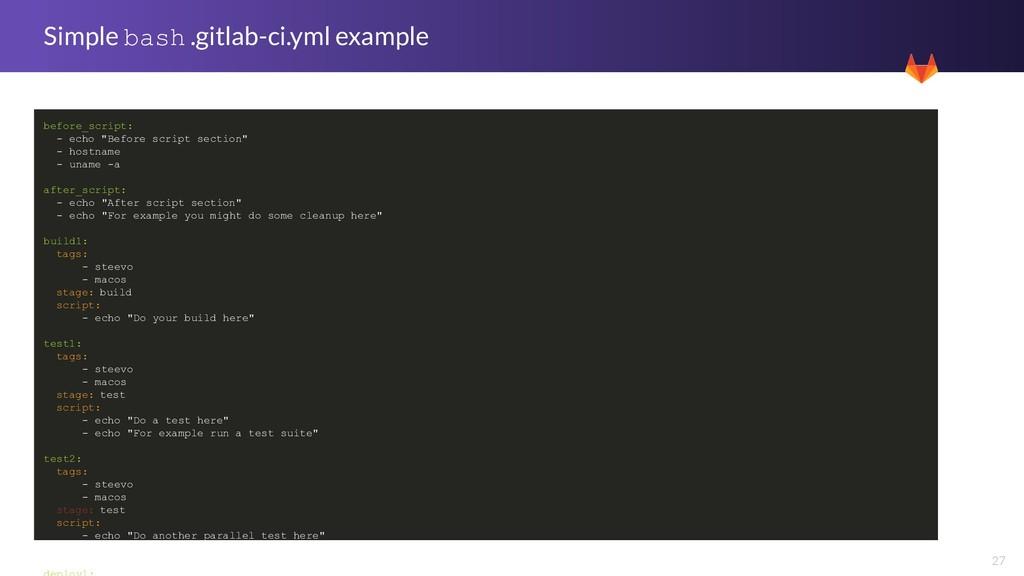 27 Simple bash .gitlab-ci.yml example before_sc...