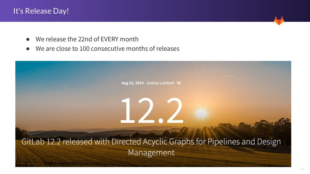 5 It's Release Day! ● We release the 22nd of EV...