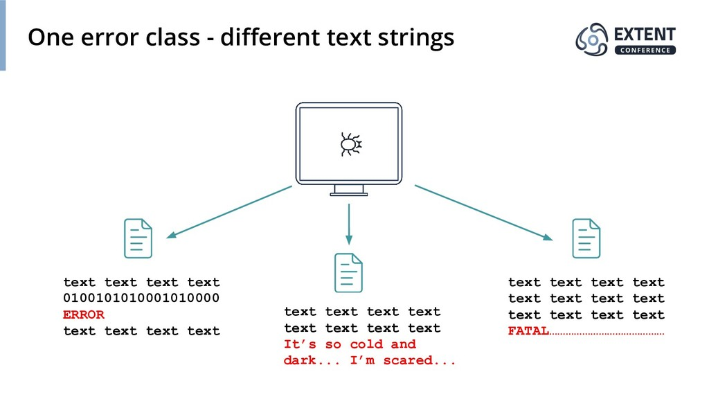 One error class - different text strings text te...