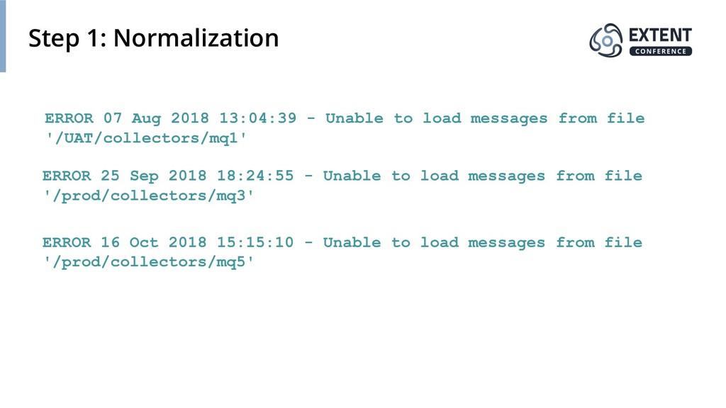 Step 1: Normalization ERROR 07 Aug 2018 13:04:3...