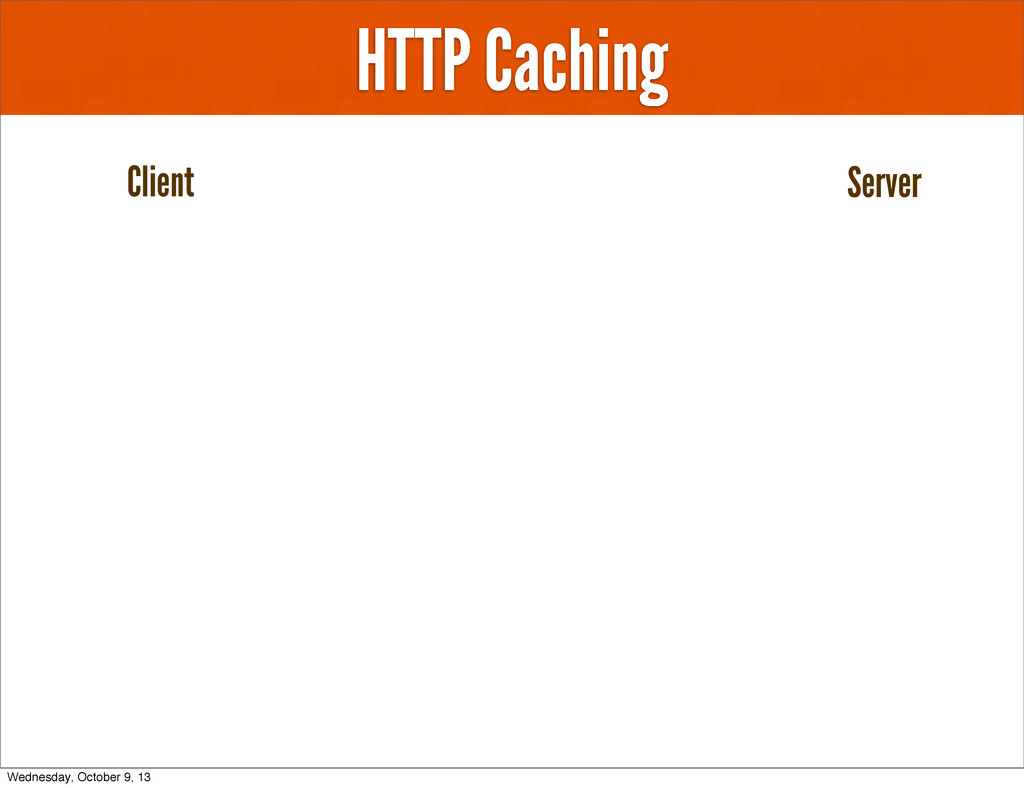 HTTP Caching Client Server Wednesday, October 9...