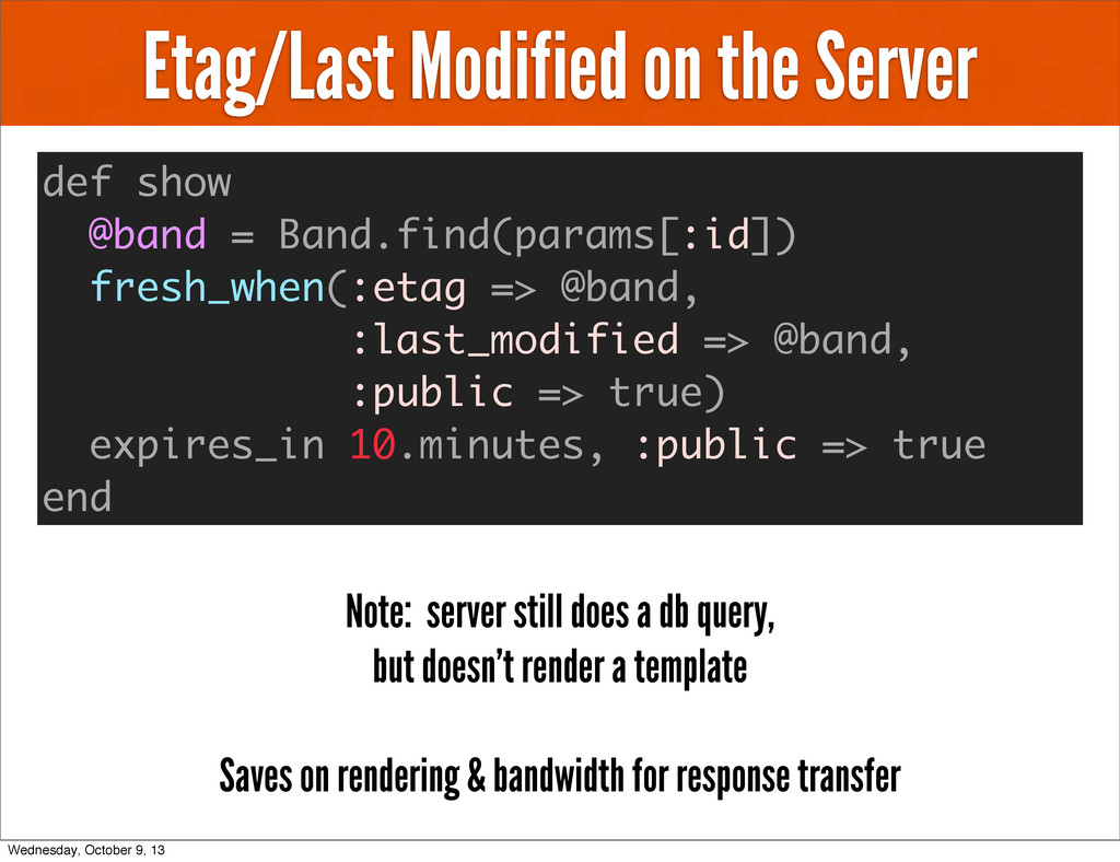 Etag/Last Modified on the Server def show @band...