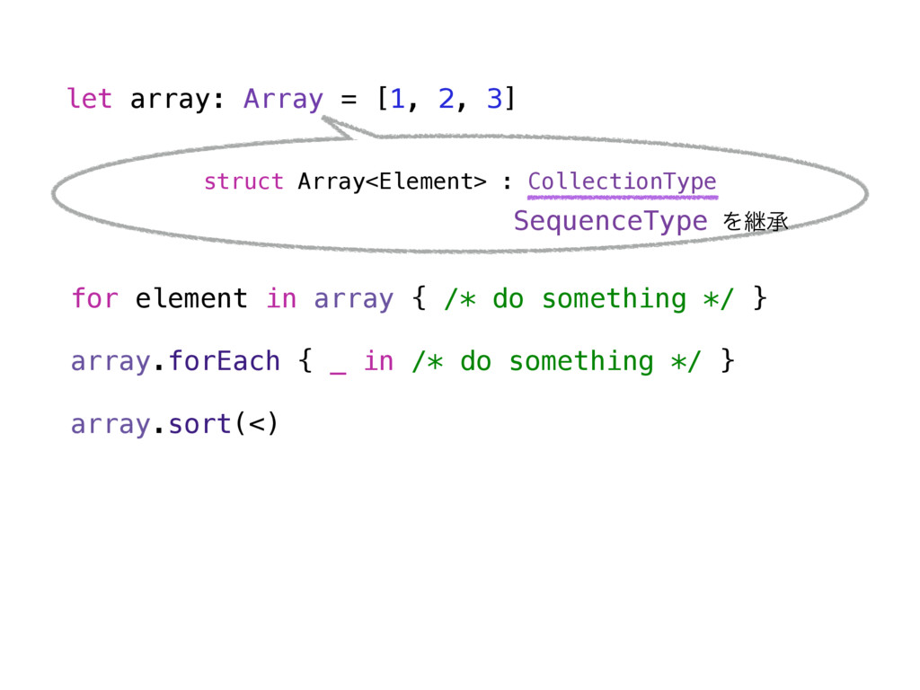 let array: Array = [1, 2, 3] struct Array<Eleme...