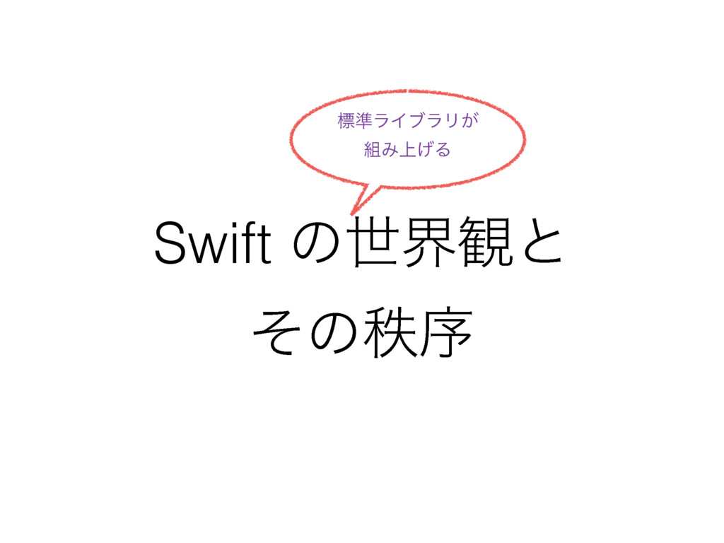 Swift ͷੈք؍ͱ ͦͷடং ඪ४ϥΠϒϥϦ͕ Έ্͛Δ
