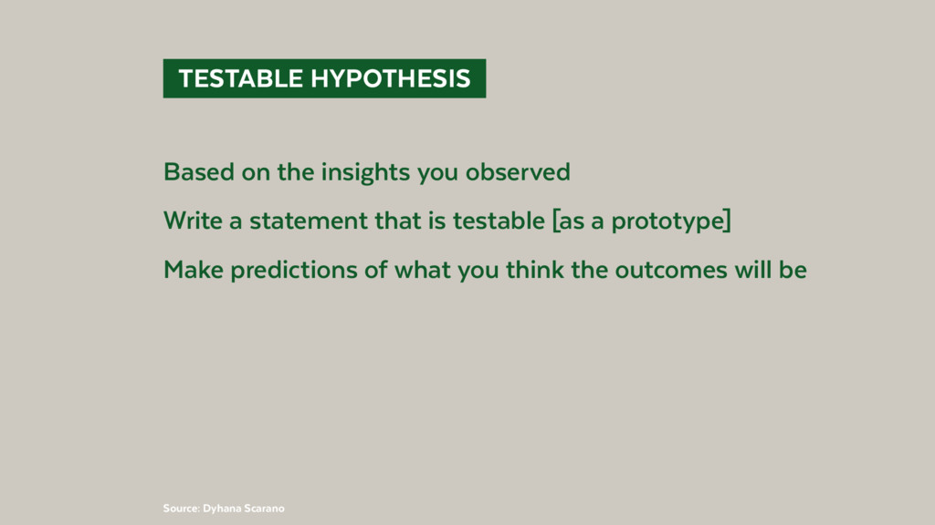 TESTABLE HYPOTHESIS Based on the insights yo...