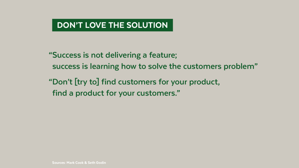 """DON'T LOVE THE SOLUTION """"Success is not deli..."""