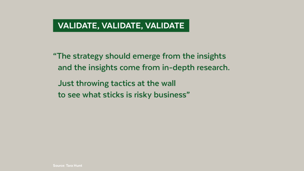 "VALIDATE, VALIDATE, VALIDATE ""The strategy s..."