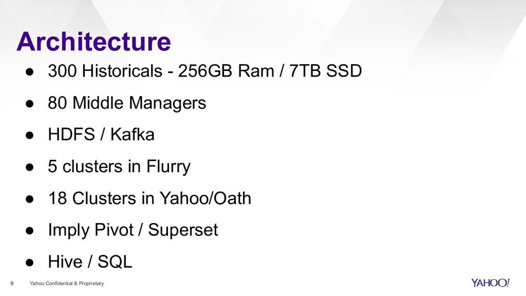 Architecture 9 Yahoo Confidential & Proprietary...