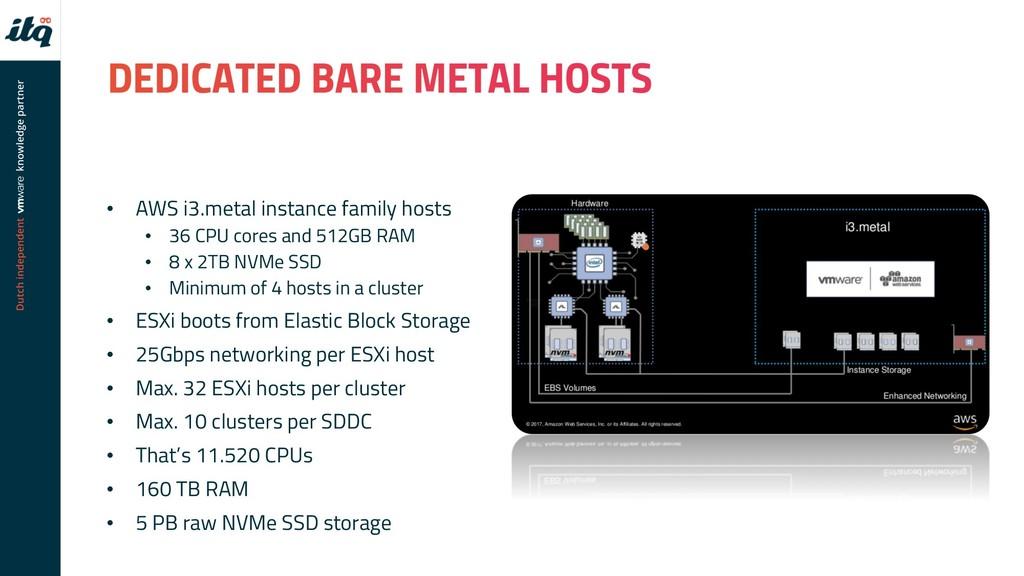 • AWS i3.metal instance family hosts • 36 CPU c...