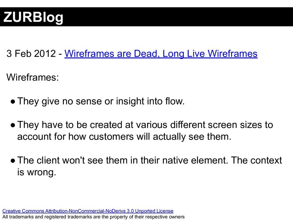 ZURBlog Creative Commons Attribution-NonCommerc...