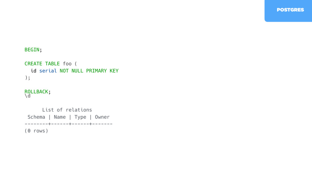 \d List of relations Schema   Name   Type   Own...