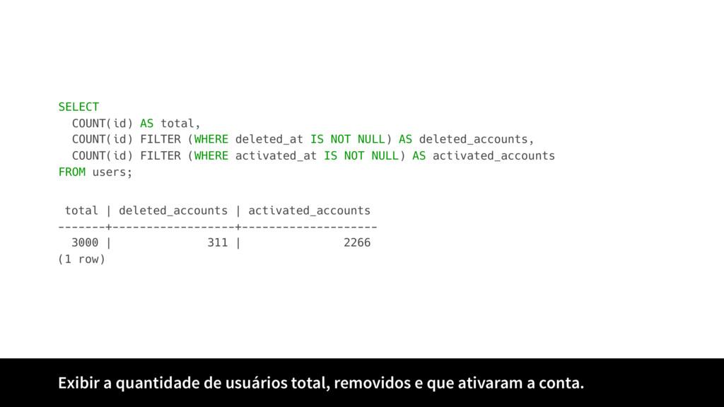 Exibir a quantidade de usuários total, removido...