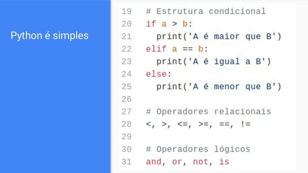 Python é simples