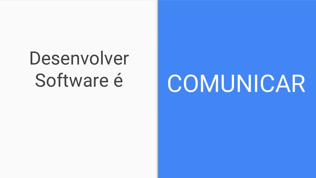 Desenvolver Software é COMUNICAR
