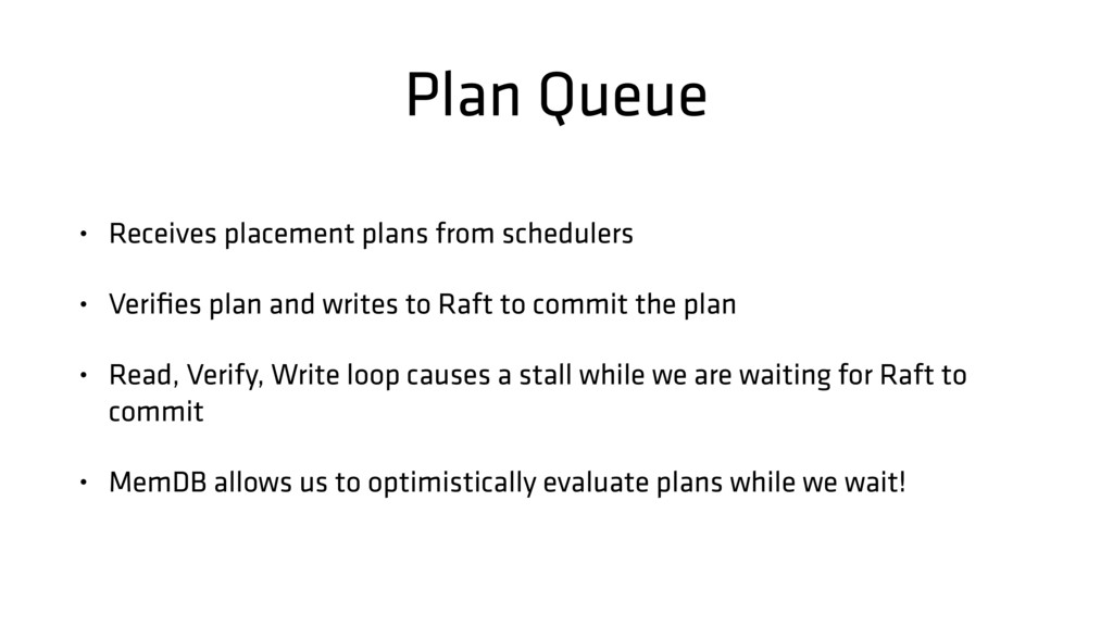 Plan Queue • Receives placement plans from sche...