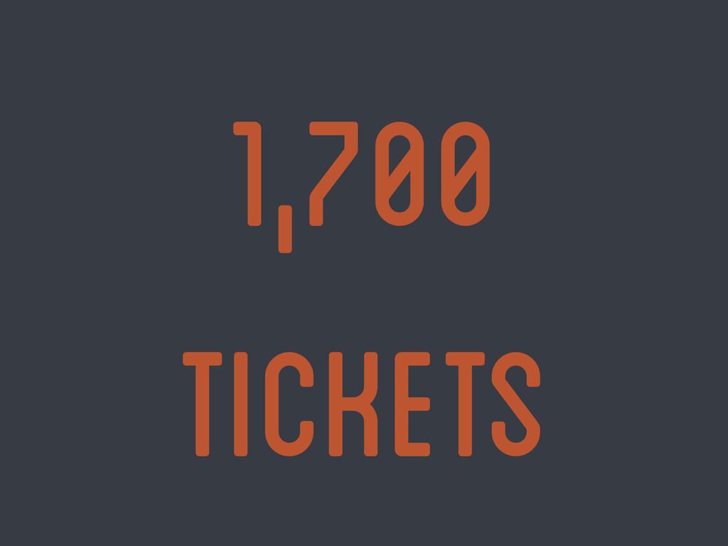 1,700 tickets