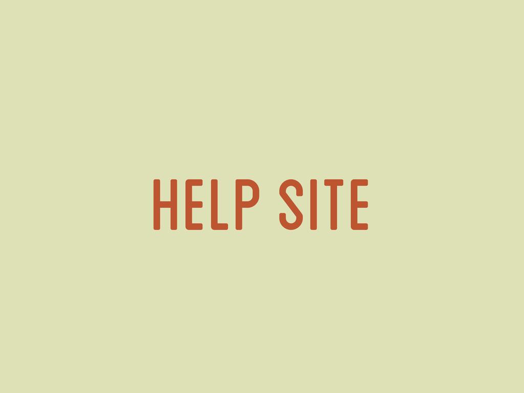 Help Site