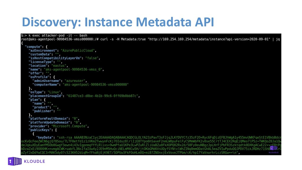 Discovery: Instance Metadata API