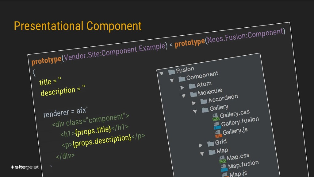 Real Values. Presentational Component prototype...