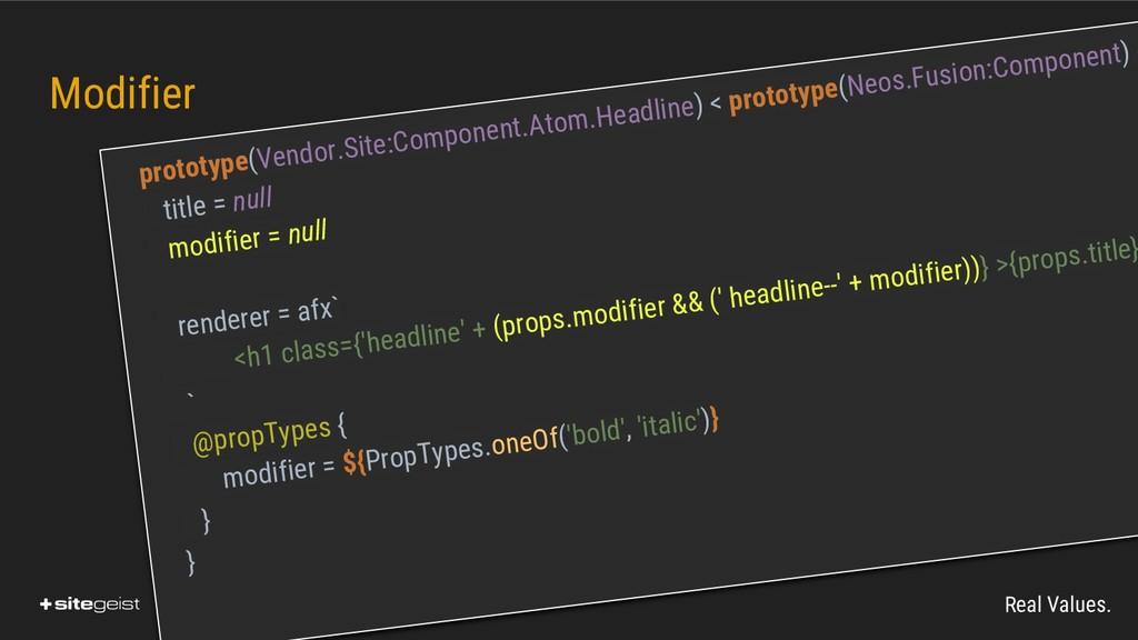 Real Values. Modifier prototype(Vendor.Site:Com...