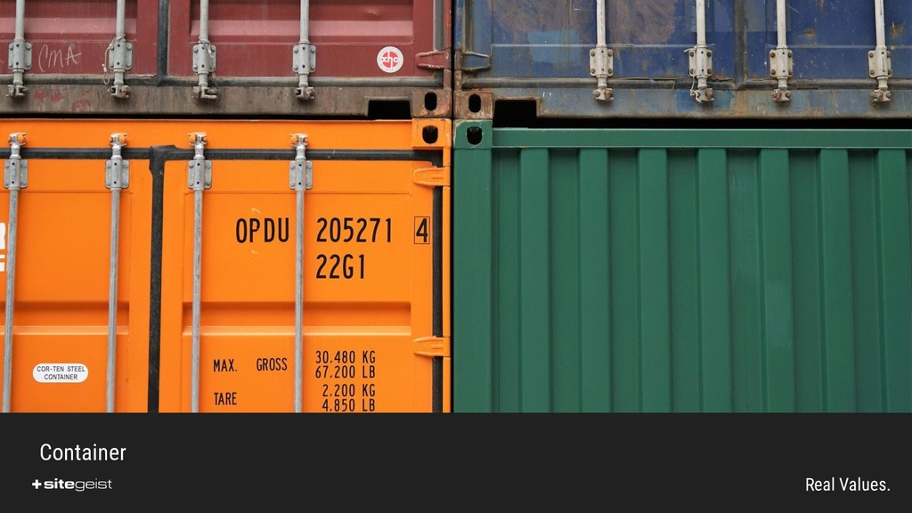 Real Values. Container