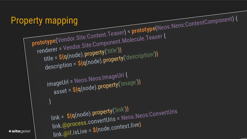 Real Values. Property mapping prototype(Vendor....