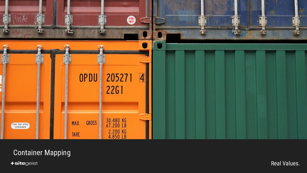 Real Values. Container Mapping
