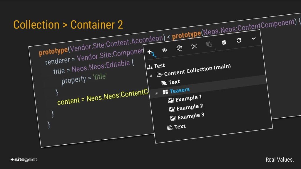 Real Values. Collection > Container 2 prototype...