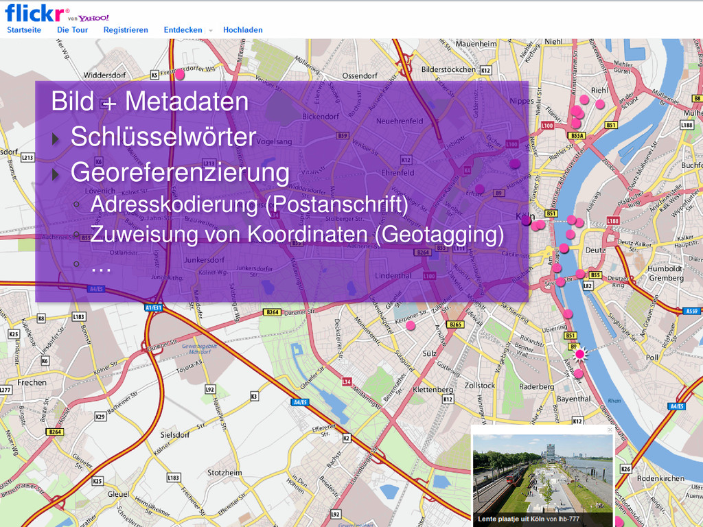 Bild + Metadaten  Schlüsselwörter  Georeferen...