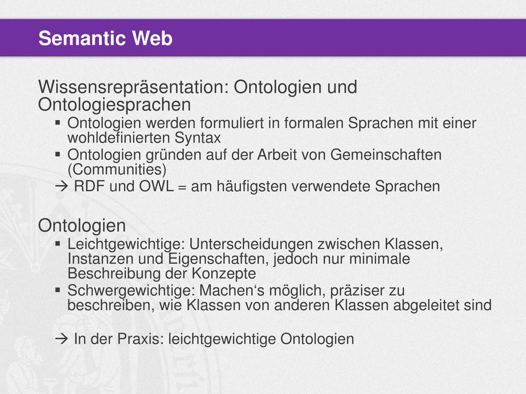 Wissensrepräsentation: Ontologien und Ontologie...