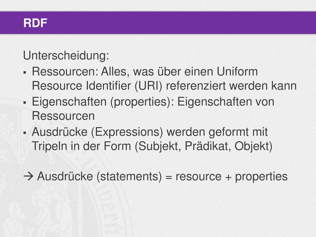 Unterscheidung:  Ressourcen: Alles, was über e...